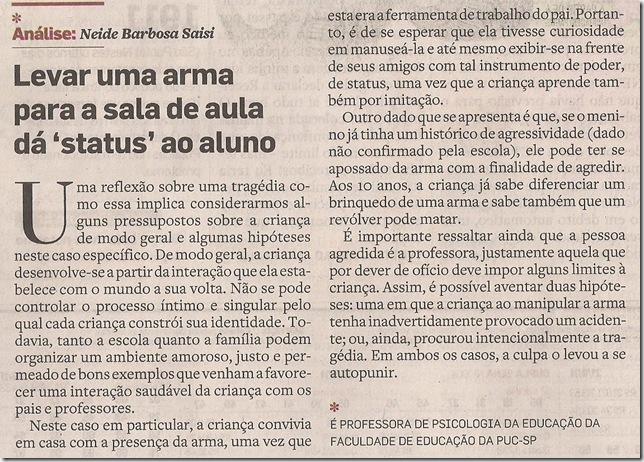 Análise Neide Barbosa Saisi