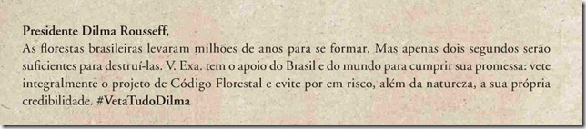 mensagem comitê Brasil